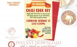 004 Fantastic Chili Cook Off Flyer Template Sample  Halloween Office Powerpoint