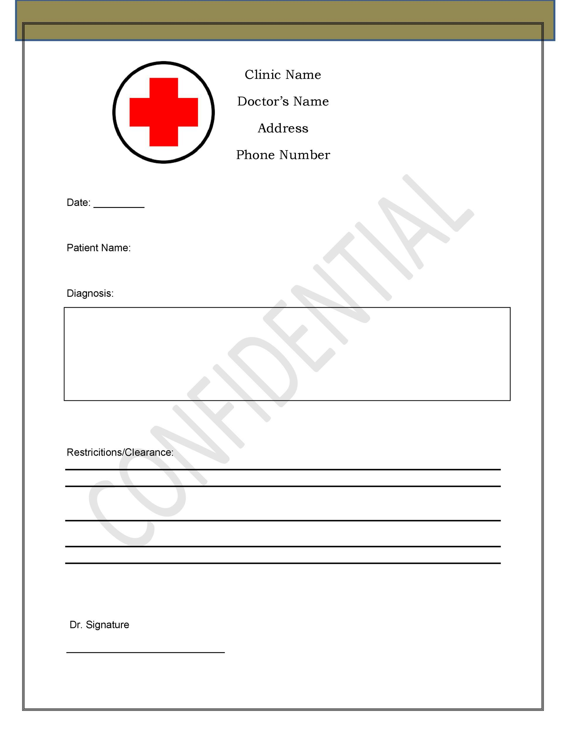004 Fantastic Doctor Note Template Word Idea  Fake Document For WorkFull