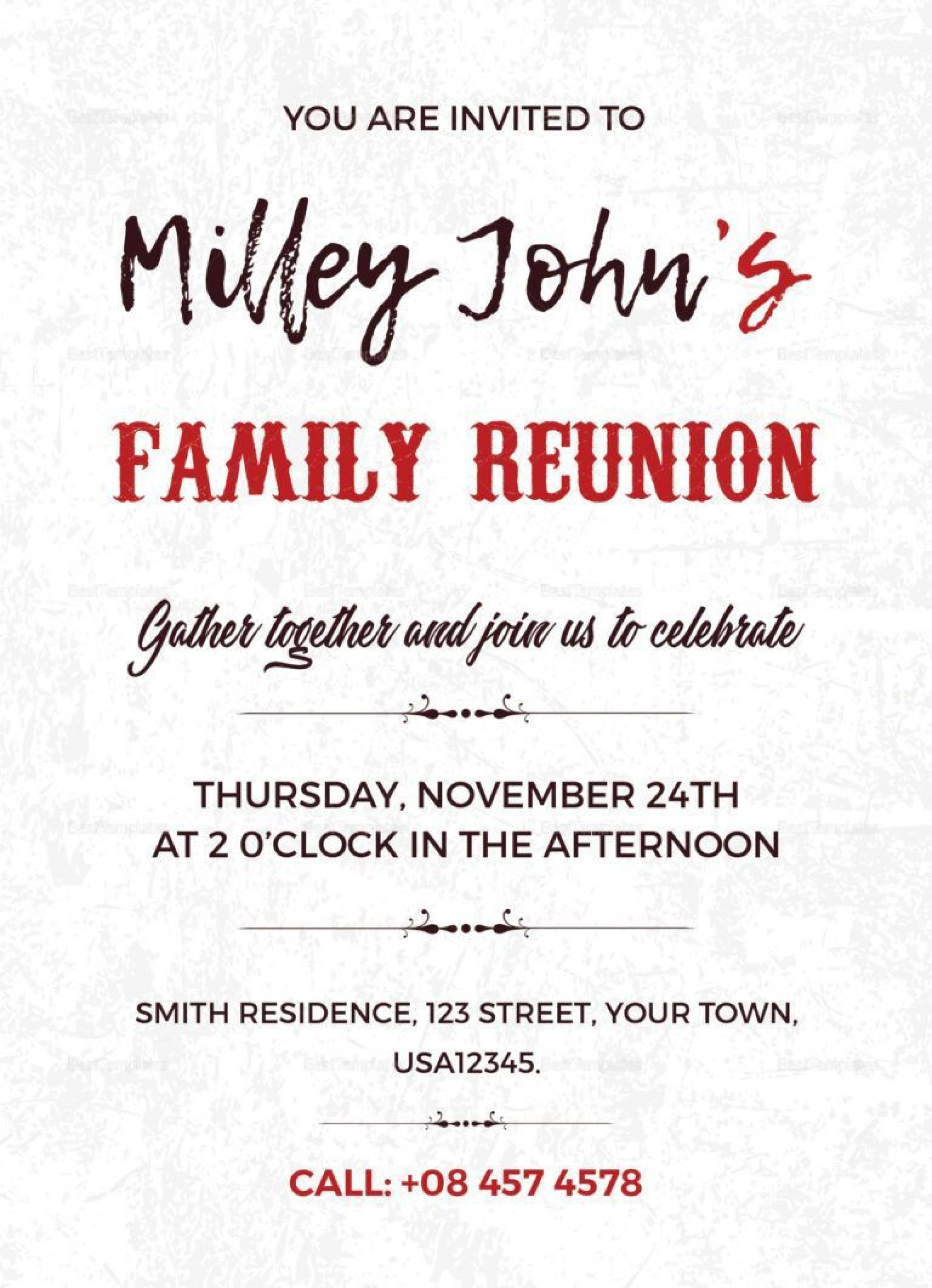 004 Fantastic Family Reunion Invitation Card Template High Resolution 1920