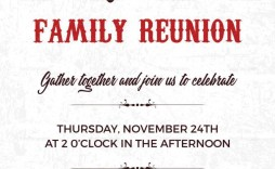 004 Fantastic Family Reunion Invitation Card Template High Resolution