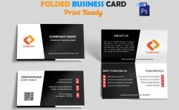 004 Fantastic Folding Busines Card Template Photo  Folded Photoshop Ai Free