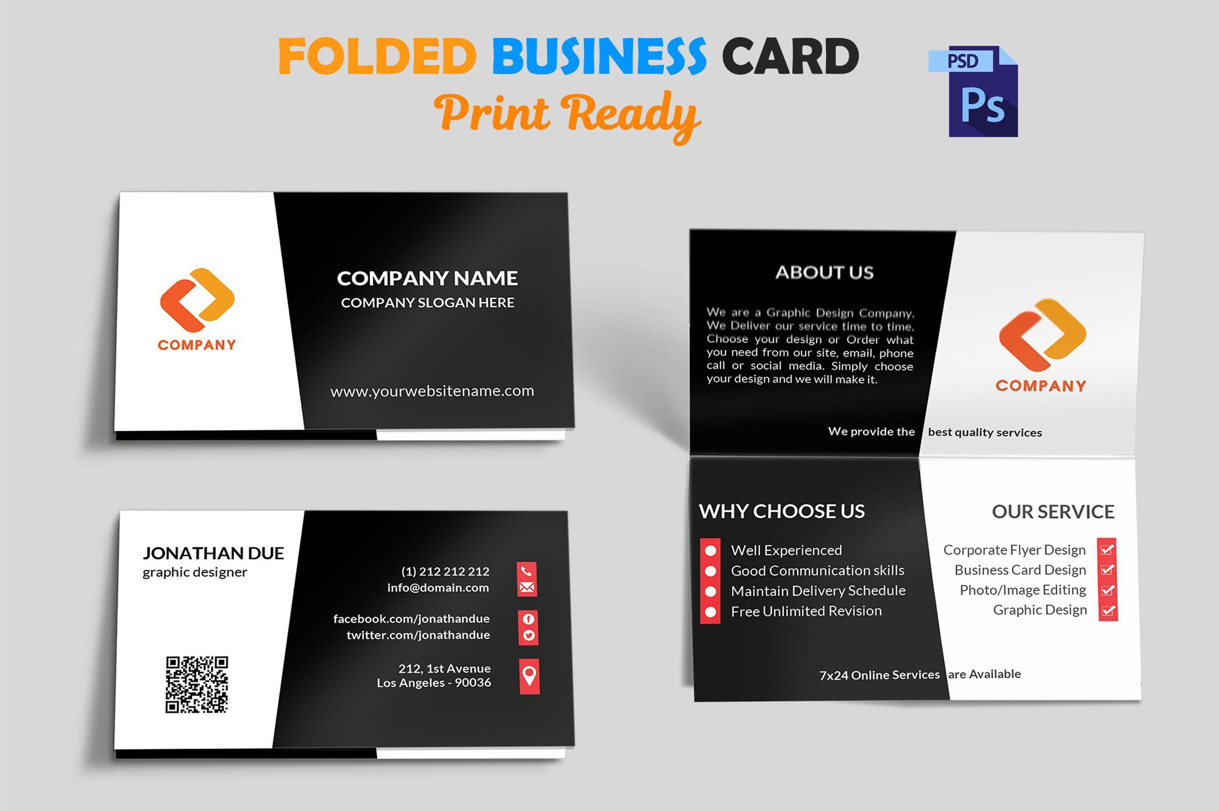 Folding Business Card Template Addictionary