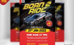 004 Fantastic Free Car Show Flyer Template High Definition  Psd And Bike