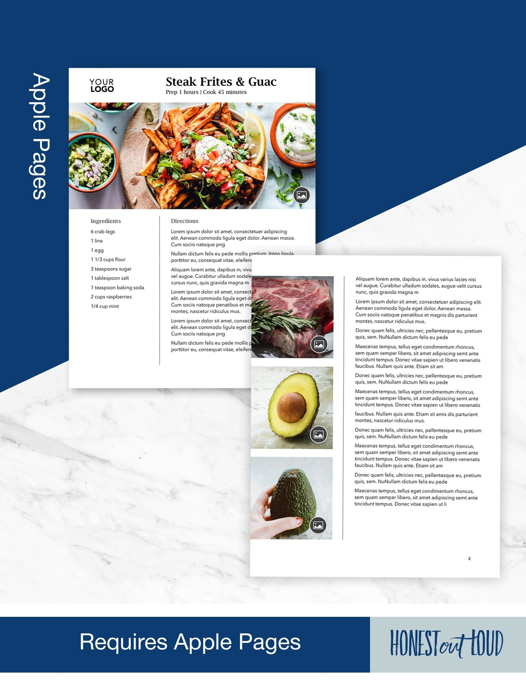004 Fantastic Free Make Your Own Cookbook Template Download Concept Full