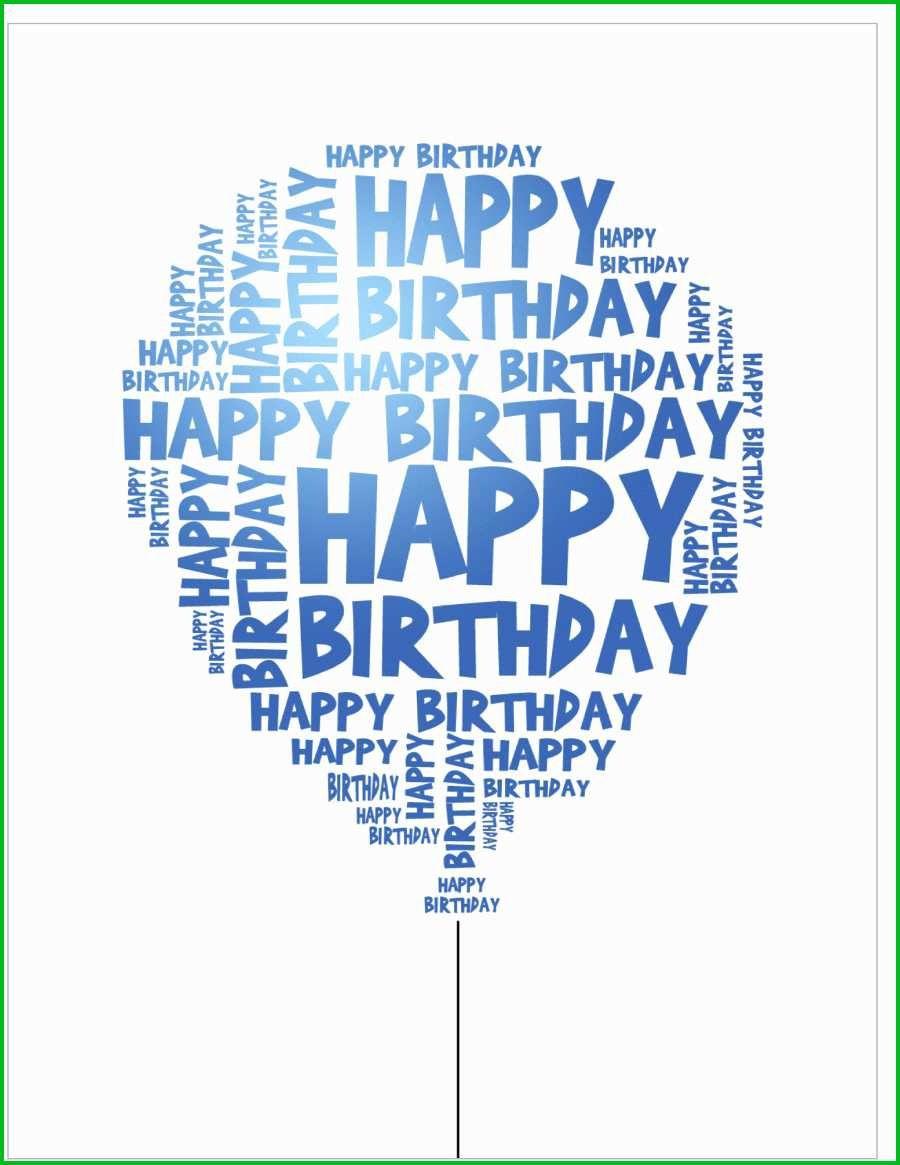004 Fantastic Happy Birthday Card Template For Word Idea Full