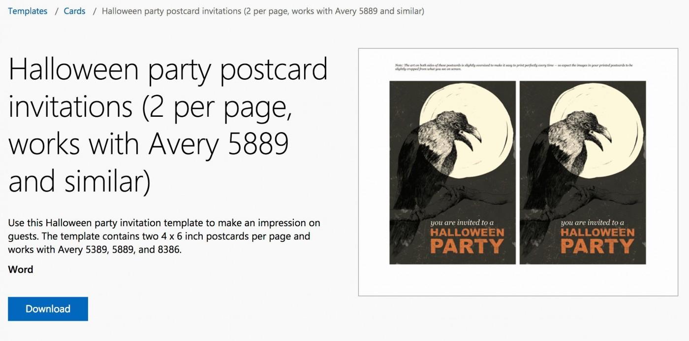 004 Fantastic Microsoft Word Invitation Template 2 Per Page Example 1400