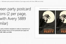 004 Fantastic Microsoft Word Invitation Template 2 Per Page Example