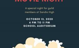 004 Fantastic Movie Night Flyer Template Example  Editable Psd Free