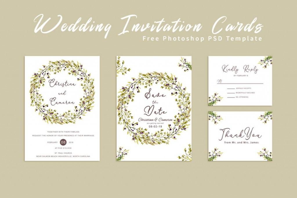 004 Fantastic Photoshop Wedding Invitation Template Inspiration  Templates Hindu Psd Free Download CardLarge