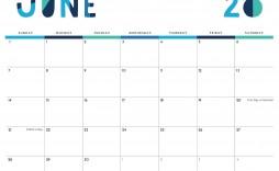 004 Fantastic Printable Calendar Template June 2020 High Def  Free