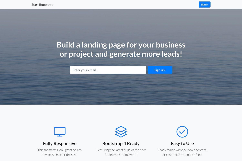 004 Fantastic Responsive Landing Page Template Design  Templates Html5 Free Download Wordpres HtmlFull