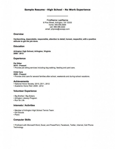 004 Fantastic Resume Template For Teen Image  Teenager First Job Australia480