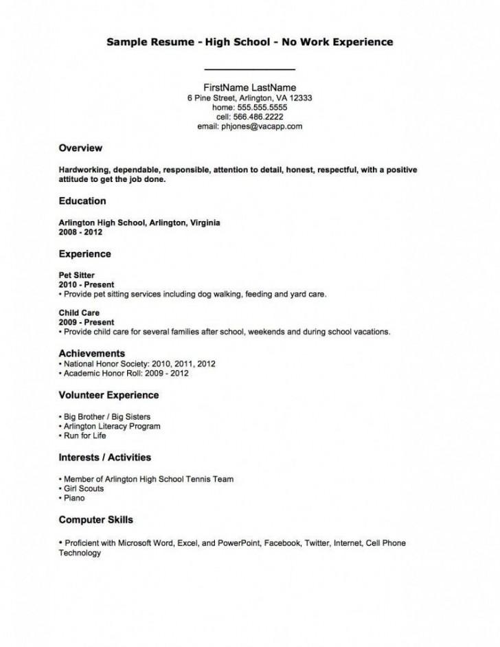 004 Fantastic Resume Template For Teen Image  Teenager First Job Australia728