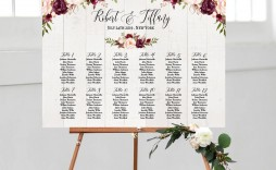 004 Fantastic Seating Chart Wedding Template Idea  Table Excel Printable Reception Free