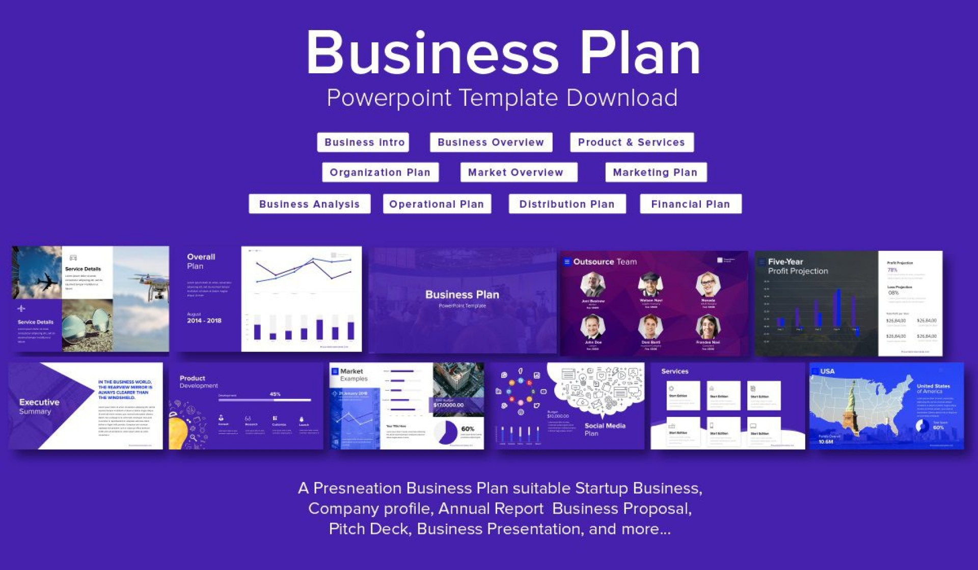004 Fantastic Startup Busines Plan Template Ppt Picture  Free1920