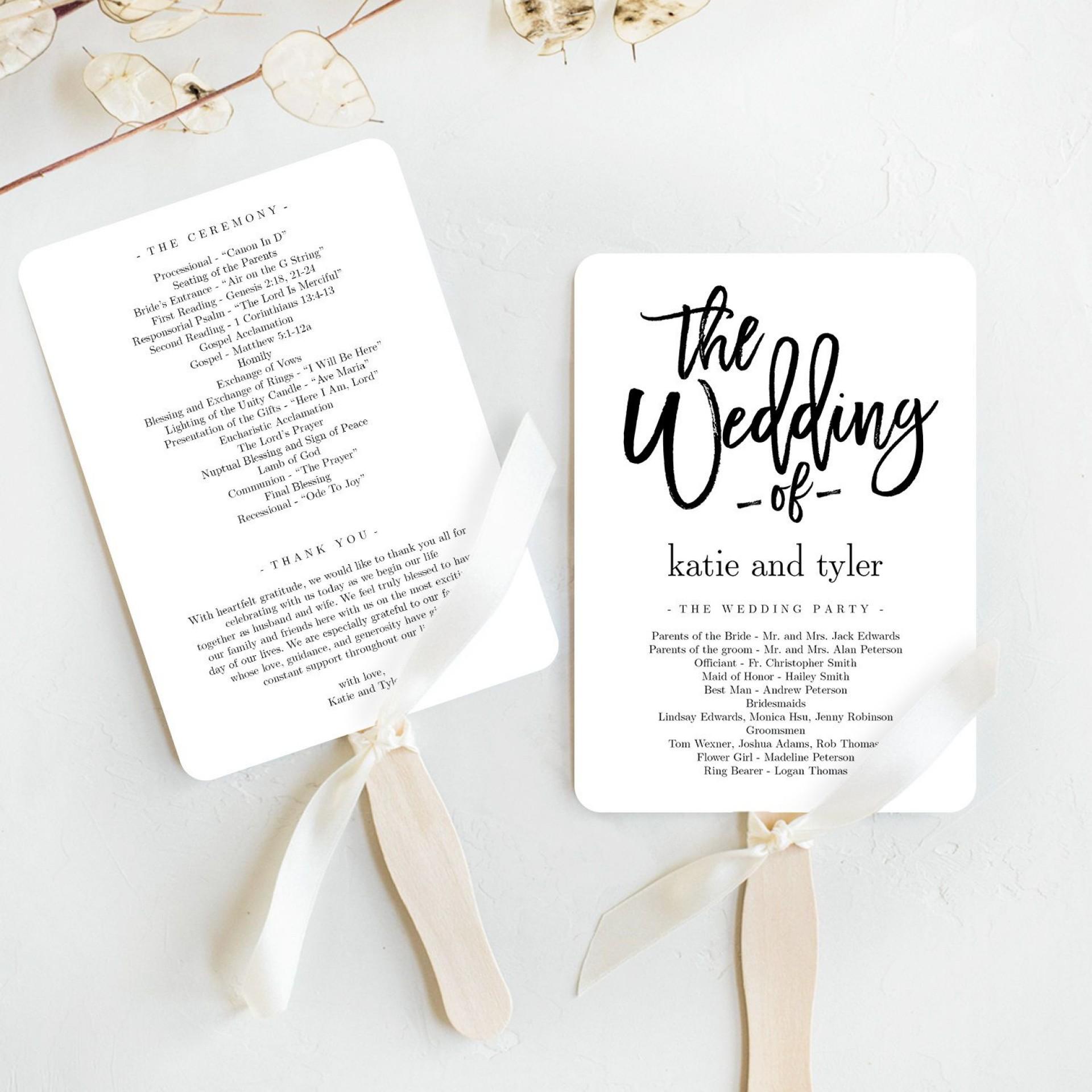 004 Fantastic Template For Wedding Program High Def  Word Free Catholic1920