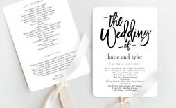 004 Fantastic Template For Wedding Program High Def  Word Free Catholic
