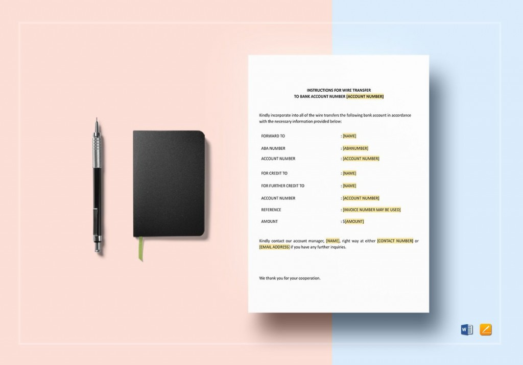 004 Fantastic Wire Transfer Instruction Template Concept  International ChaseLarge