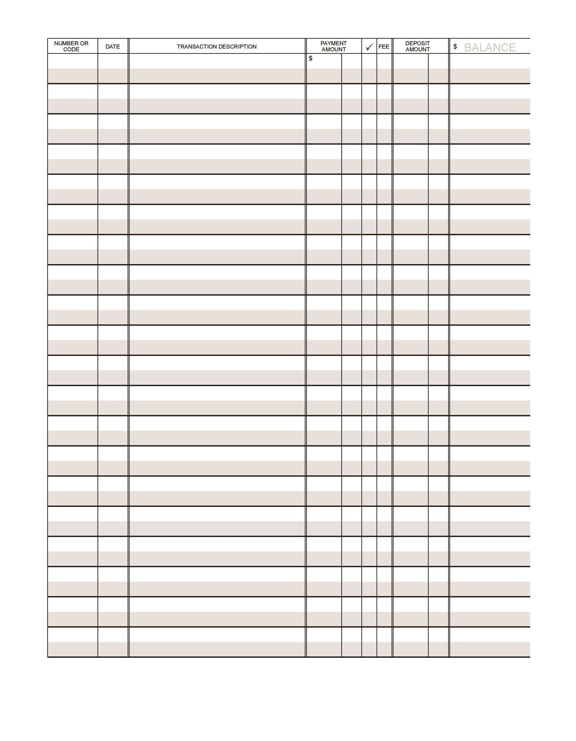 004 Fascinating Checkbook Register Template Excel 2013 Highest Quality Full