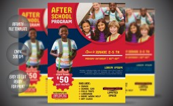 004 Fascinating Free After School Flyer Template Example  Templates