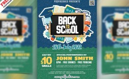 004 Fascinating Free Back To School Flyer Template Psd Highest Quality