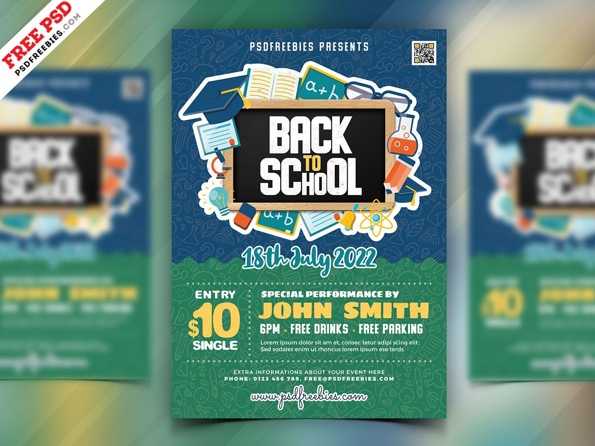 004 Fascinating Free Back To School Flyer Template Psd Highest Quality Full