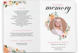 004 Fascinating Free Celebration Of Life Brochure Template Picture  Flyer