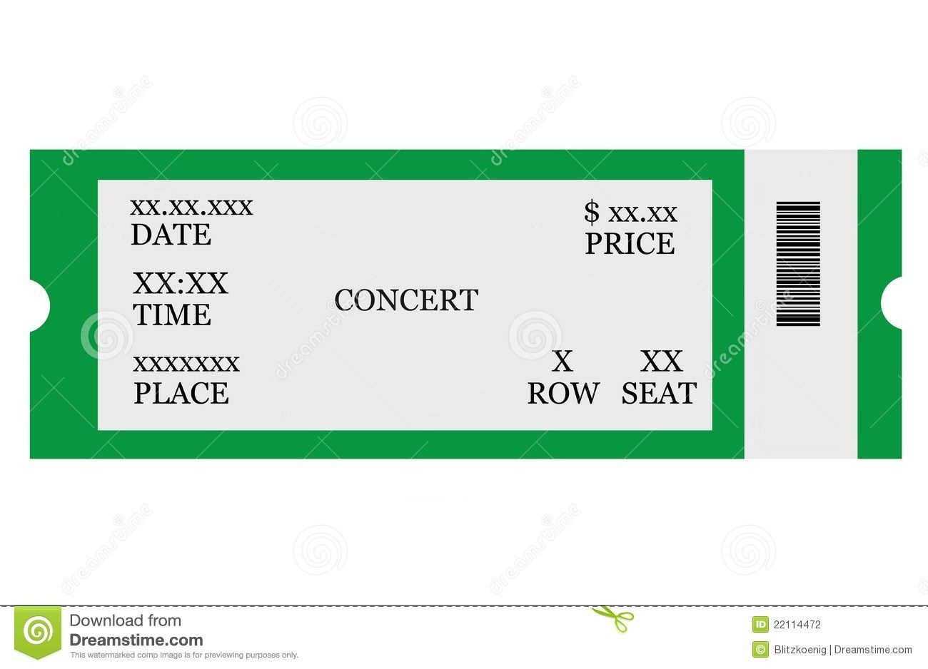 004 Fascinating Free Event Ticket Template Printable Design Full