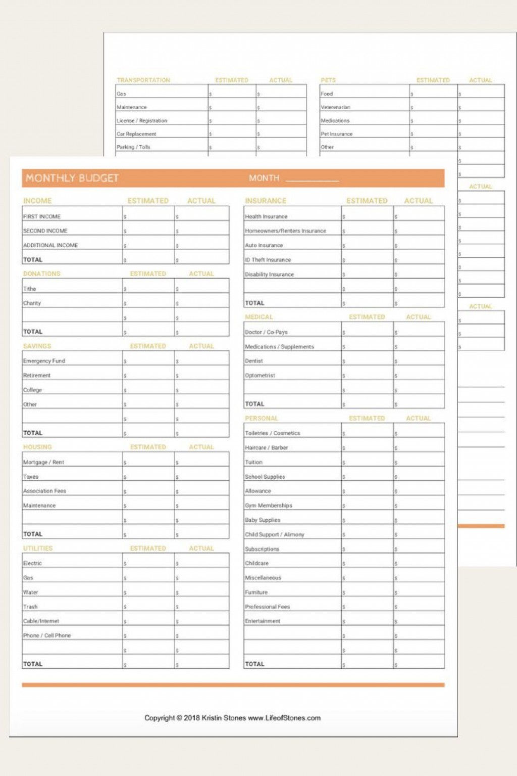 004 Fascinating Free Printable Monthly Budget Form Photo  Forms Personal Template Blank SpreadsheetLarge