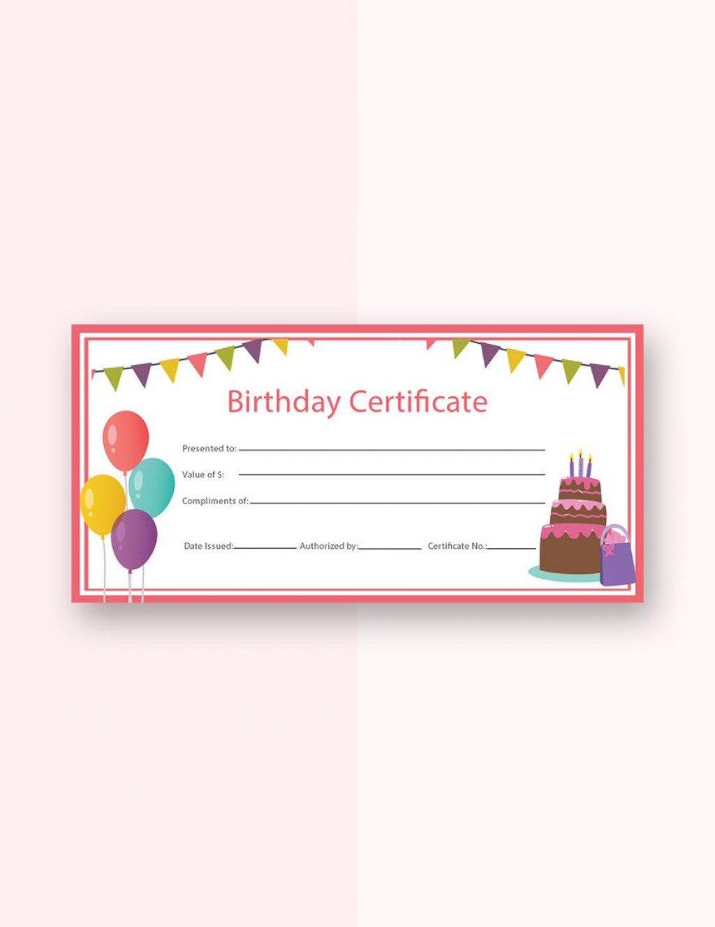 004 Fascinating Free Template For Gift Certificate High Definition  Printable Birthday Mac In WordLarge