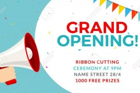 004 Fascinating Grand Opening Flyer Template Inspiration  Free Psd Busines