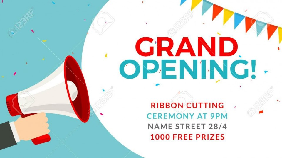 004 Fascinating Grand Opening Flyer Template Inspiration  Free Psd Busines960