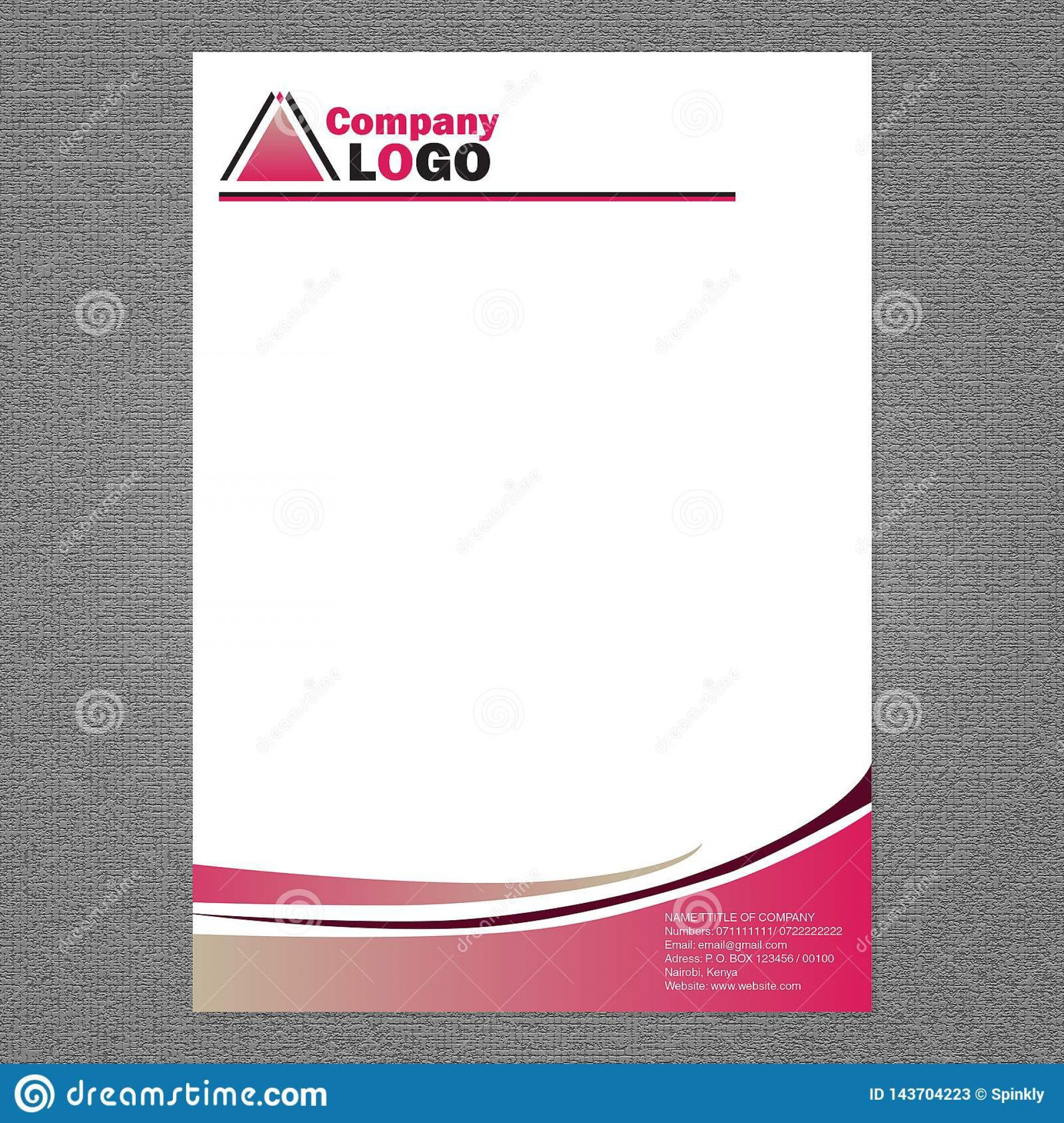 004 Fascinating Letter Pad Design Template Example  Letterhead Download Ai Free In Word1920