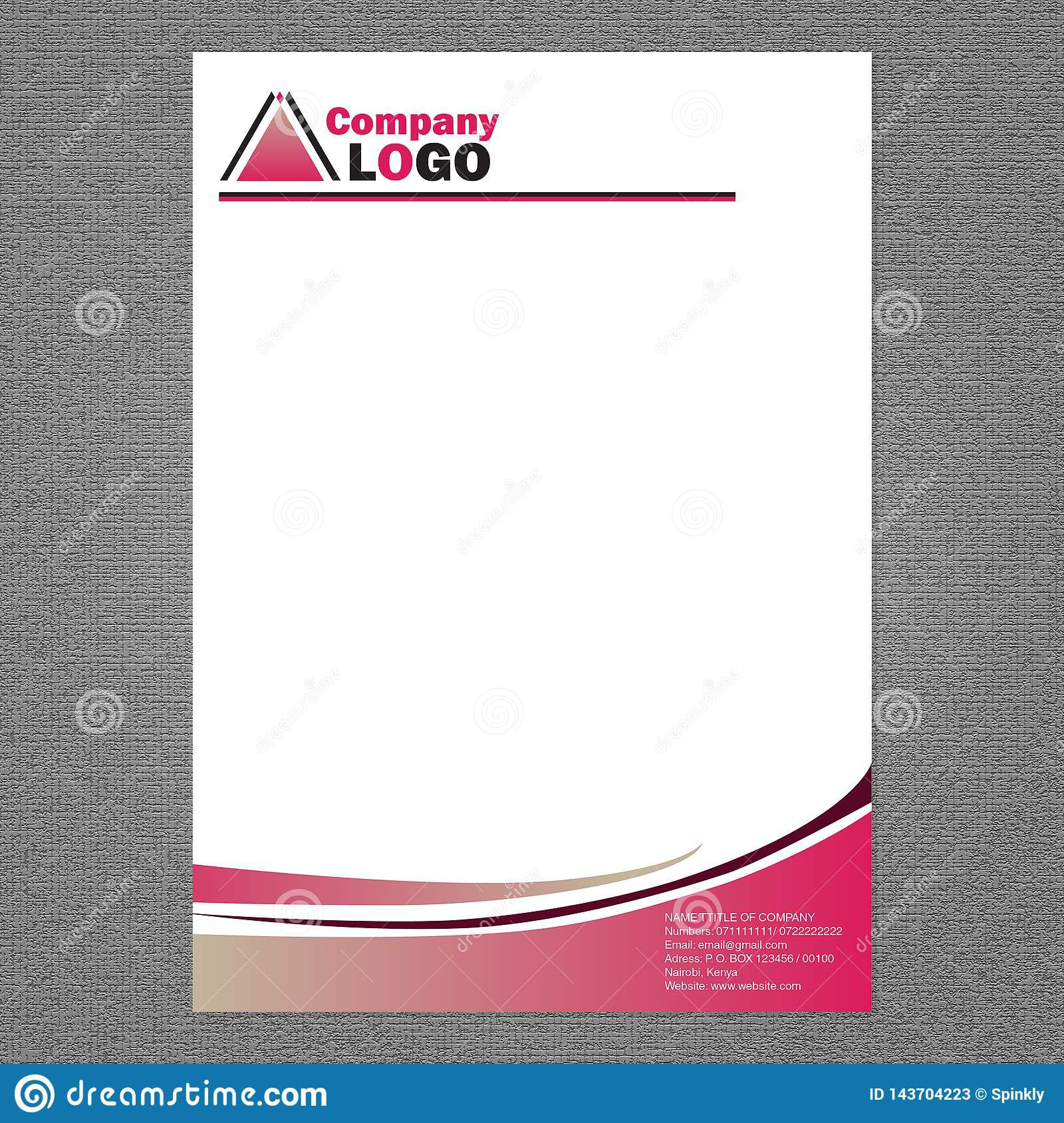 004 Fascinating Letter Pad Design Template Example  Letterhead Download Ai Free In WordFull