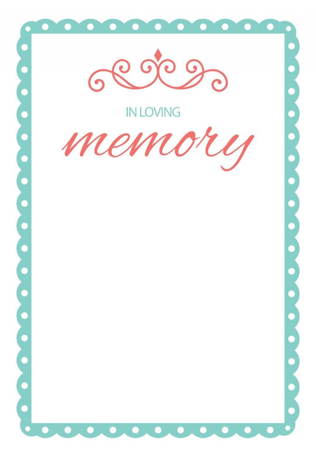 004 Fascinating Memorial Card Template Free Download Design Large