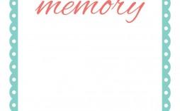 004 Fascinating Memorial Card Template Free Download Design