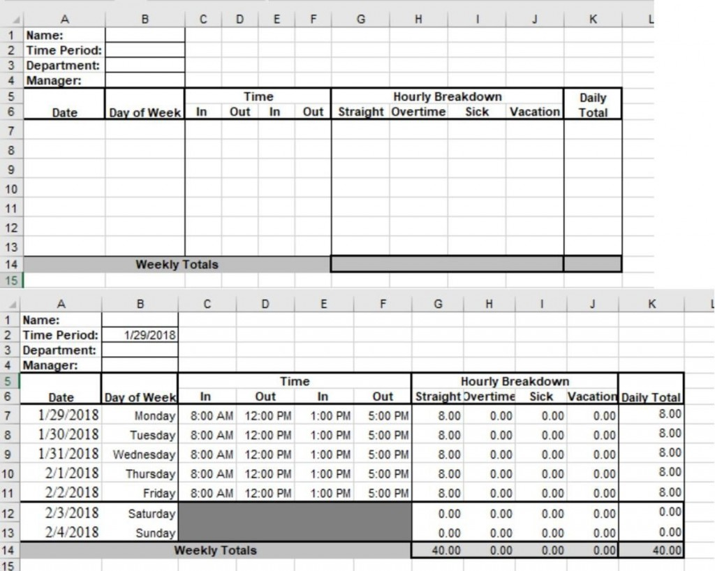 004 Fascinating Microsoft Acces Employee Time Card Template Highest Quality Large
