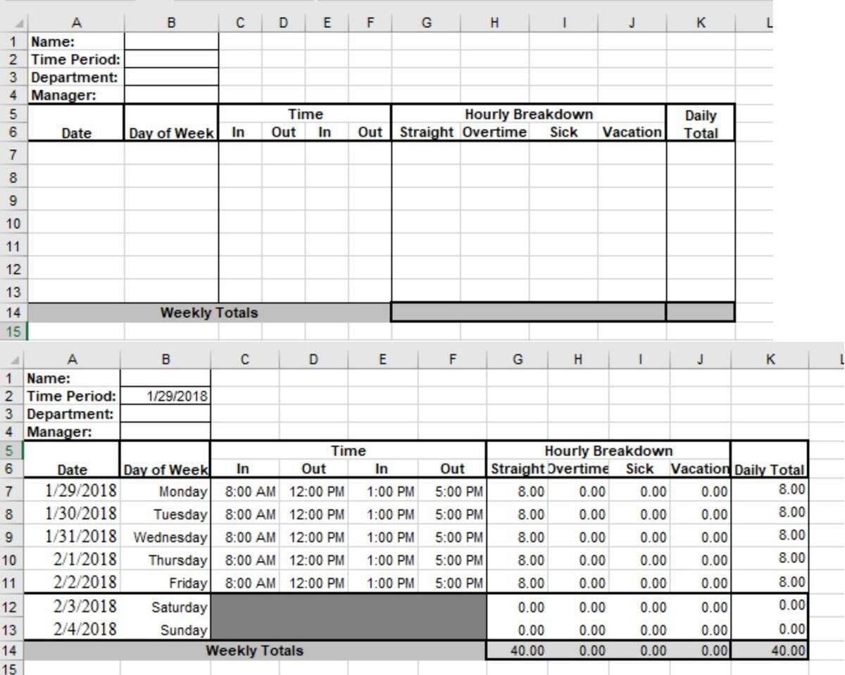004 Fascinating Microsoft Acces Employee Time Card Template Highest Quality Full