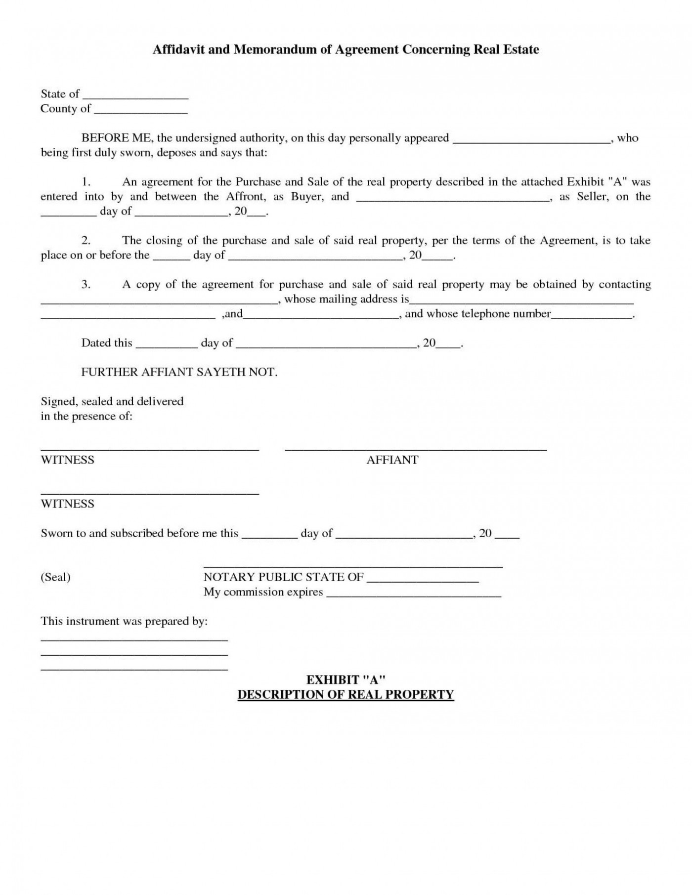 004 Fascinating Property Purchase Agreement Template Free Image  Mobile Home1400