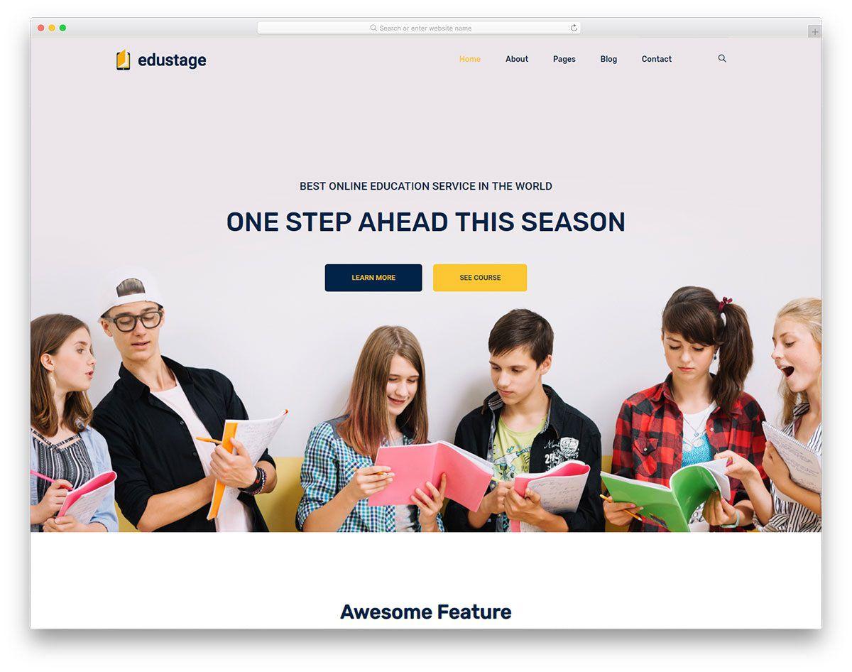 004 Fascinating School Website Html Template Free Download Sample  Responsive With Cs JqueryFull
