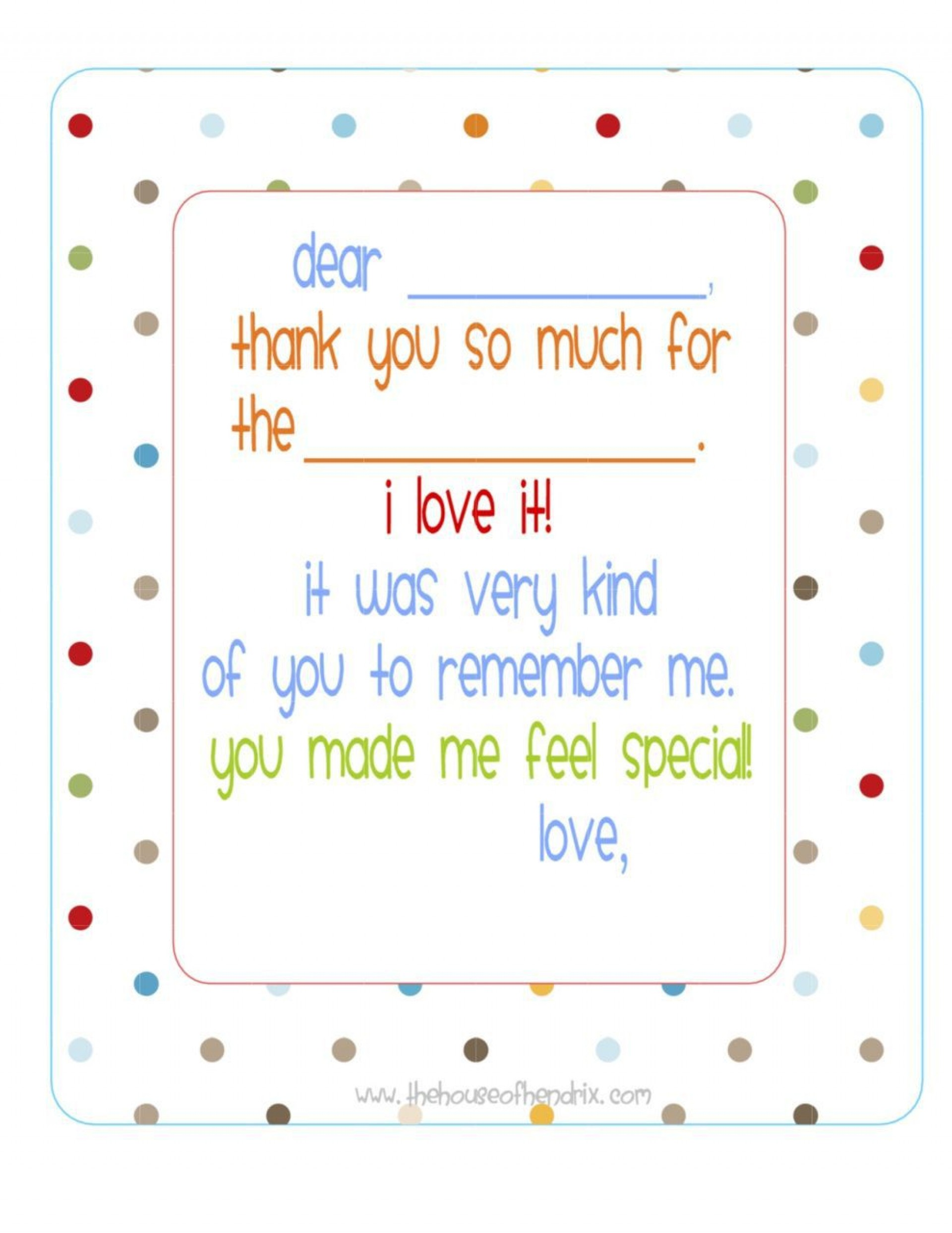 004 Fascinating Thank You Note Template For Kid High Def  Kids Child Pdf Letter1920