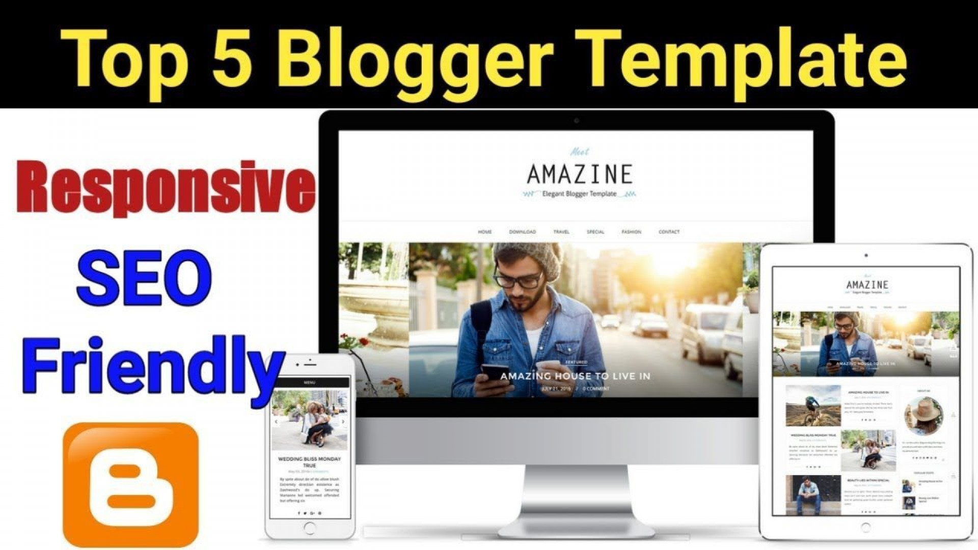 004 Fearsome Best Free Responsive Blogging Theme Example  Blogger Template 2019 Wordpres Blog Download1920