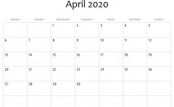004 Fearsome Calendar 2020 Template Word Image  Monthly Doc Free Download