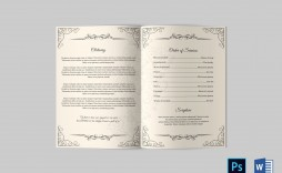 004 Fearsome Catholic Funeral Program Template Design  Mas Layout Free