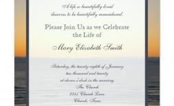 004 Fearsome Celebration Of Life Announcement Template Free Example  Invitation Download Invite