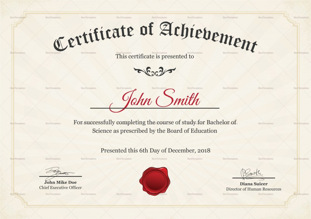 004 Fearsome Degree Certificate Template Word High Def Large