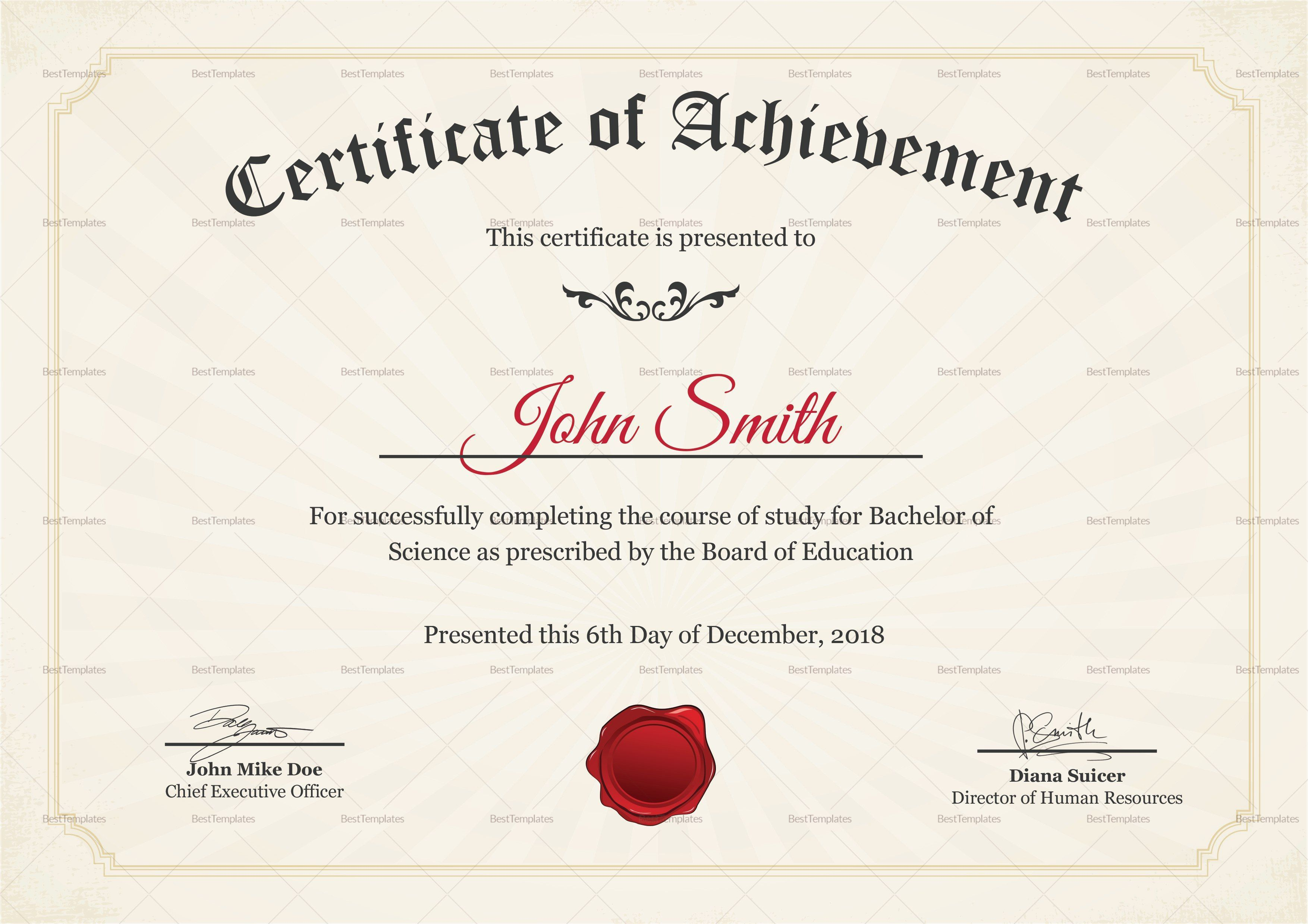 004 Fearsome Degree Certificate Template Word High Def Full