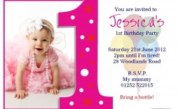 004 Fearsome Free 1st Birthday Invitation Template For Word High Def
