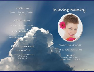 004 Fearsome Free Celebration Of Life Program Template Download Highest Clarity 320