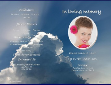 004 Fearsome Free Celebration Of Life Program Template Download Highest Clarity 360